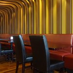 Banquet type seating, but also regular table seating available.