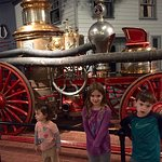 Old fashioned fire truck wagon. Kids loved it!