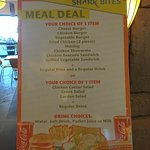 Meal deal options.