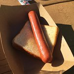 Paid $12 for a pretzel bun gourmet hot dog. It took 1hr 10minutes to arrive and I only got it af