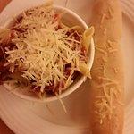 Plaza Inn -- Pasta and bread stick