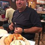 Fried gulf grouper dinner.