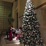 RestaurantのThe Garden前のツリーとピアノ演奏