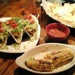 shrimp tacos & street corn