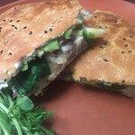Toasted Chicken turkish bread sandwich