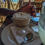 The frozen capuccino was excellent and refreshing on a hot day