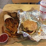 What I usually like to order at Five Guys.