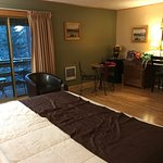 We booked one night for ski. Room was VERY big and nicely renovated. Heated indoor pool and saun