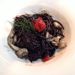 Spaghetti Neri with calamari