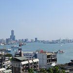 View of Kaohsiung harbor from historic former British consulate building