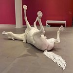 Life-size horse in marble dust and resin