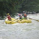 White water rafting ))