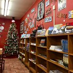 Shop also has books and souveniers for purchase; great casual atmosphere