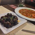 black fungus salad + Gon Bao chicken