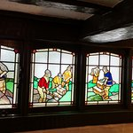 A Stained Glass window in the pub area of The Cavendish Arms
