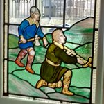 Another Stained Glass window in the pub area of The Cavendish Arms