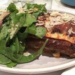 Lamb and Mushroom Lasagna with Greens... fabulous! Fresh pasta, lamb fall-apart tender,.