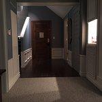Entrance into suite - notice beautiful waiscotting
