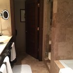 Masterbath with walk in shower and spa-like tub