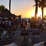 Sunset at the tiki bar.