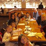 Our extended family of 11, 6 adults, 5 children enjoying lunch at California Pizza Kitchen