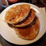 Blueberry buttermilk pancakes at Barking Dog, NYC