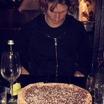 Nutella Pizza Desert! Very yummy and filling. Would recommend to share.