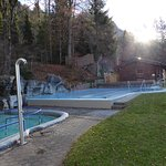 Außenbereich mit beheiztem Schwimmbad