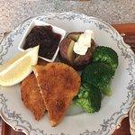 Crumbed Panko freerange chicken, seasonal vegetables and homemade chutney