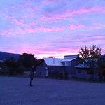 Red dawn sky