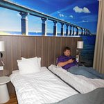 Room was comfortable but not spacious. Enjoyed the wall mural of the bridge to Oland