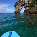 Paddleboarding from Secret Beach