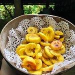 Fresh fried plantains at the Indian River Bush Bar