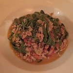 spinach fettuccine with ground italian sausage