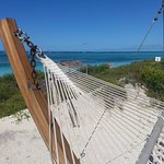 This is living.  Relax on the hammock on the front porch of your beach cabana. Yes, please
