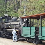 The Sugar Pine Railroad right next door to the Narrow Gauge Inn