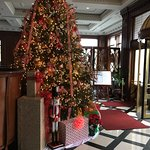 Entry way, Formal dining room right behind the Christmas Tree