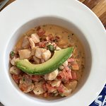 Chipotle Cebiche with sea bass, yum!