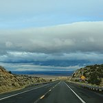 Rolling downhill, away from the Canyon, towards Flagstaff, on the Navajo Nation Reservation