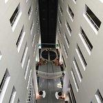 Area de recepción tomada desde el 9no piso