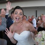 Elle was just a bit excited at her wedding, I think.