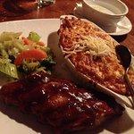 Lasagna and ribs.....7/10
