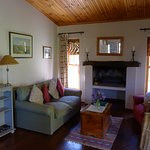 Very comfy lounge area at Quince cottage