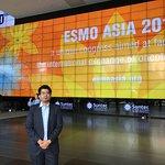 Entrance to the suntec convention centre at ESMO asia