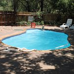 Pool besides the retaurant