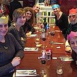 Family of 8 at rare get together at Brios