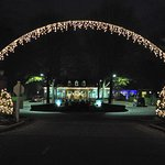 Entrance to Reception/Clubhouse at Christmas Time