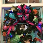 One of the many beautiful wreaths outside