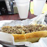 Cheese steak hoagie at Sonny's