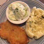 Pork Cutlett with mashed potatoes & cucumber salad